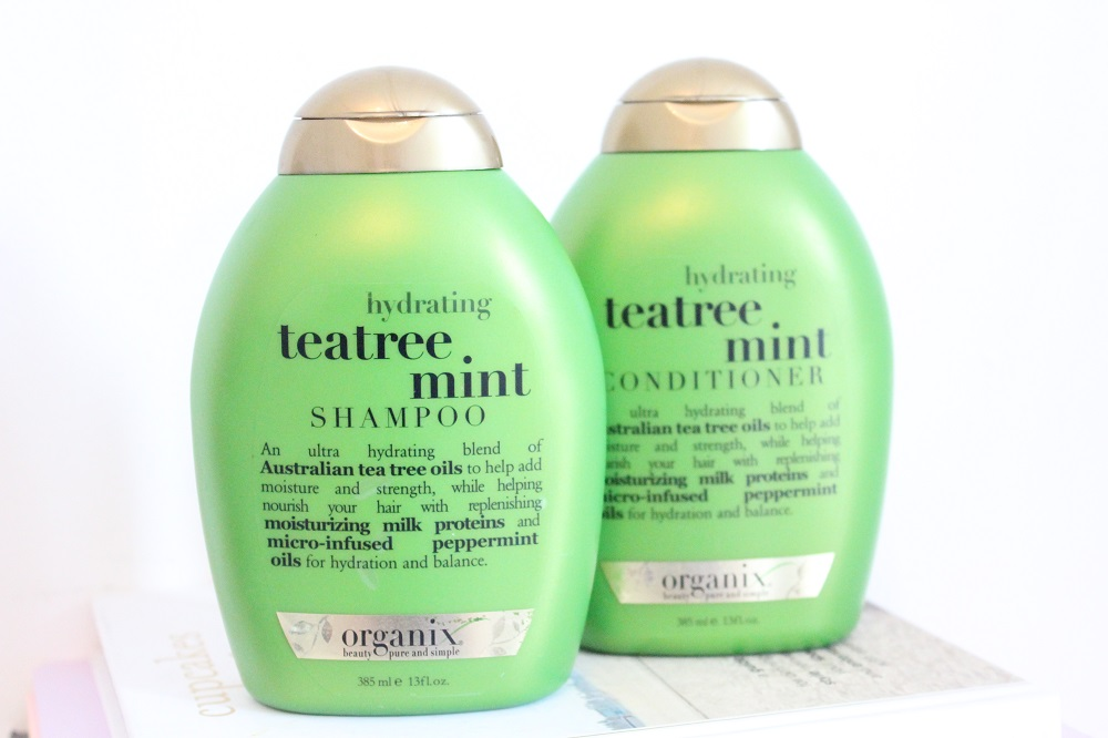 Organix Tea Tree and Mint Shampoo and Conditioner